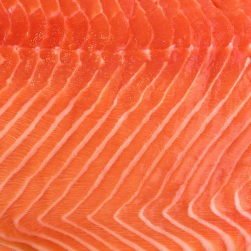 Natural Atlantic Norwegian Salmon Fillet Texture or Pattern